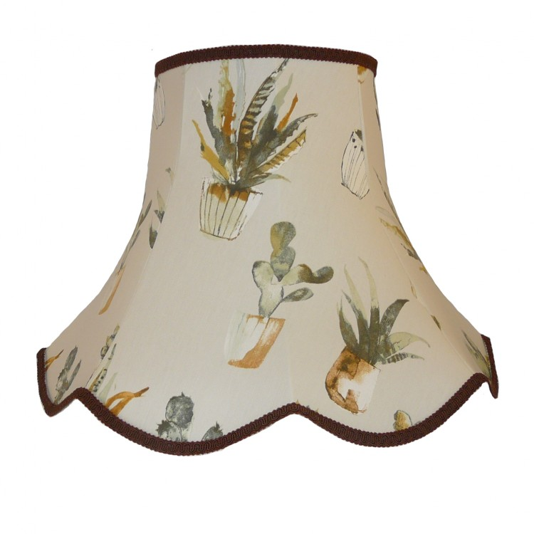 Cactus Brown Modern Fabric Lampshades