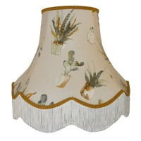 Cactus Gold Fabric Lampshades