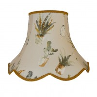 Cactus Gold Modern Fabric Lampshades