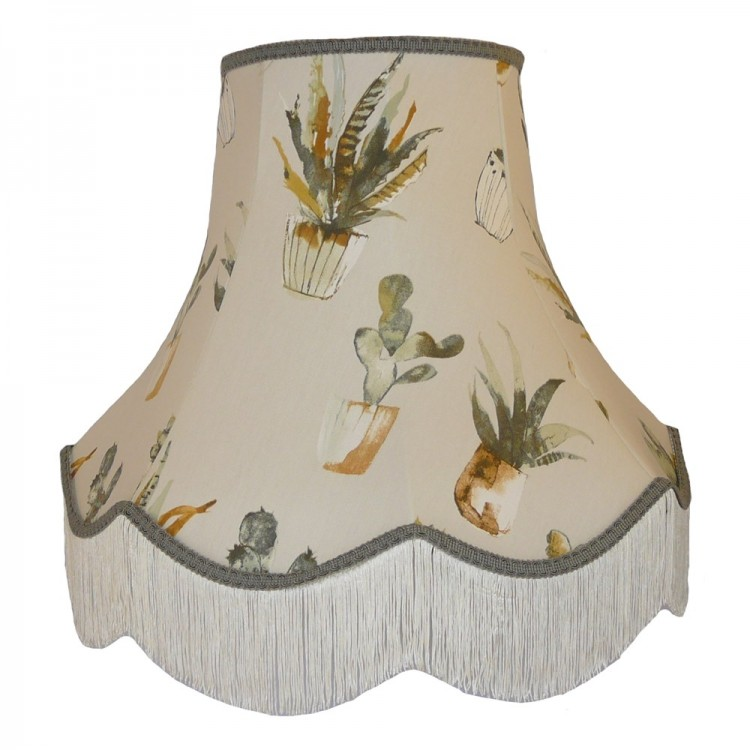 Cactus Grey Fabric Lampshades