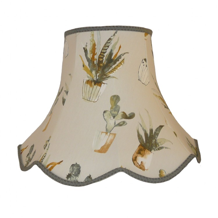 Cactus Grey Modern Fabric Lampshades