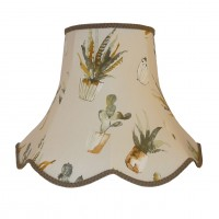 Cactus Taupe Modern Fabric Lampshades