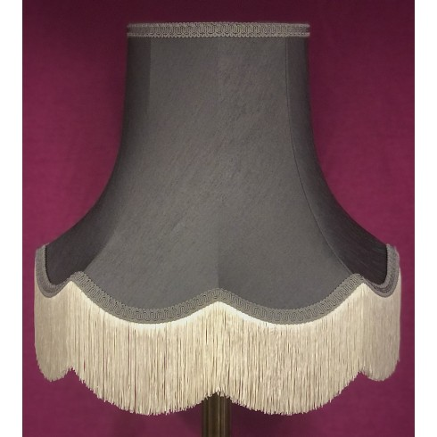 Pewter Grey Fabric Lampshades