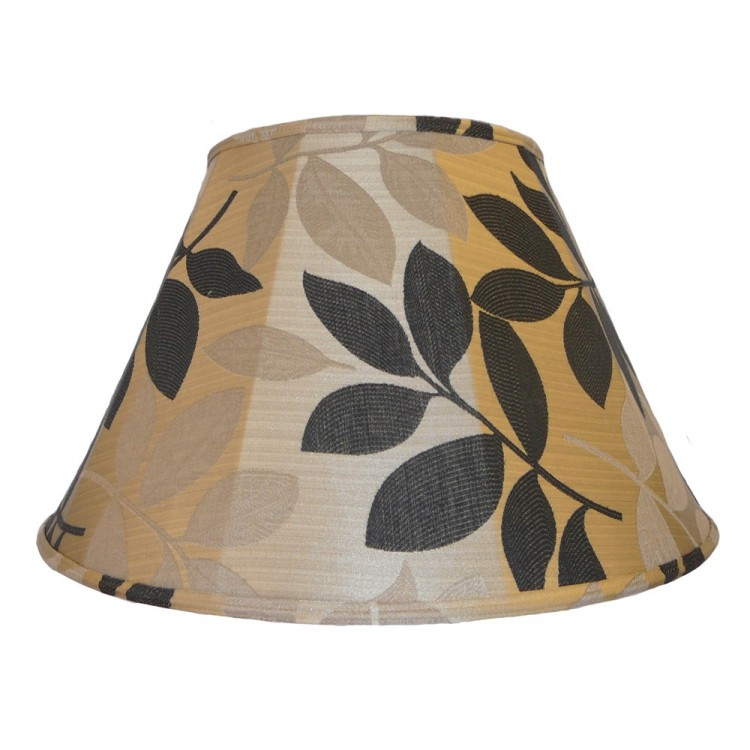 Gold and Black Leaf Contemporary Fabric Lampshades