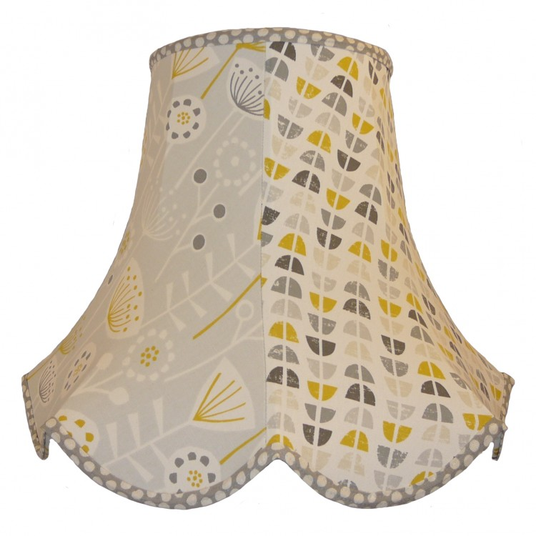 Grey and Ochre Autumn Fabric Lampshades