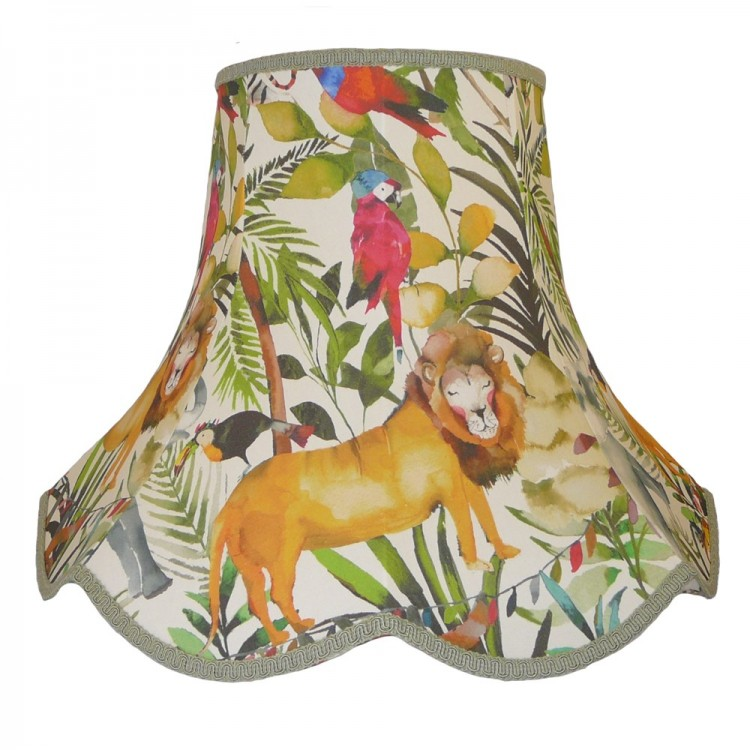 King Of The Jungle Lion Fabric Lampshades
