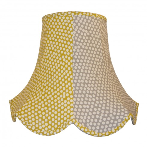 Ochre and Grey Polka Dot