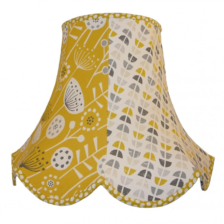 Ochre Summer Time Fabric Lampshades