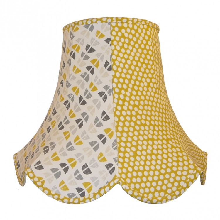 Ochre Two Tone Fabric Lampshades