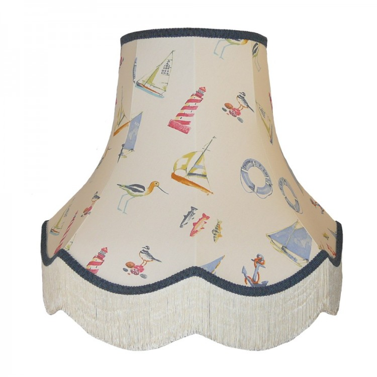 Padstow Nautical Fabric Lampshade