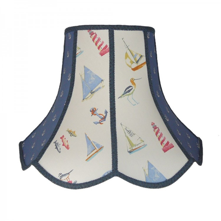 Padstow Blue Nautical Anchor Panel Modern Lampshade