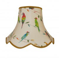 Parrots and Toucan Gold Modern Fabric Lampshades
