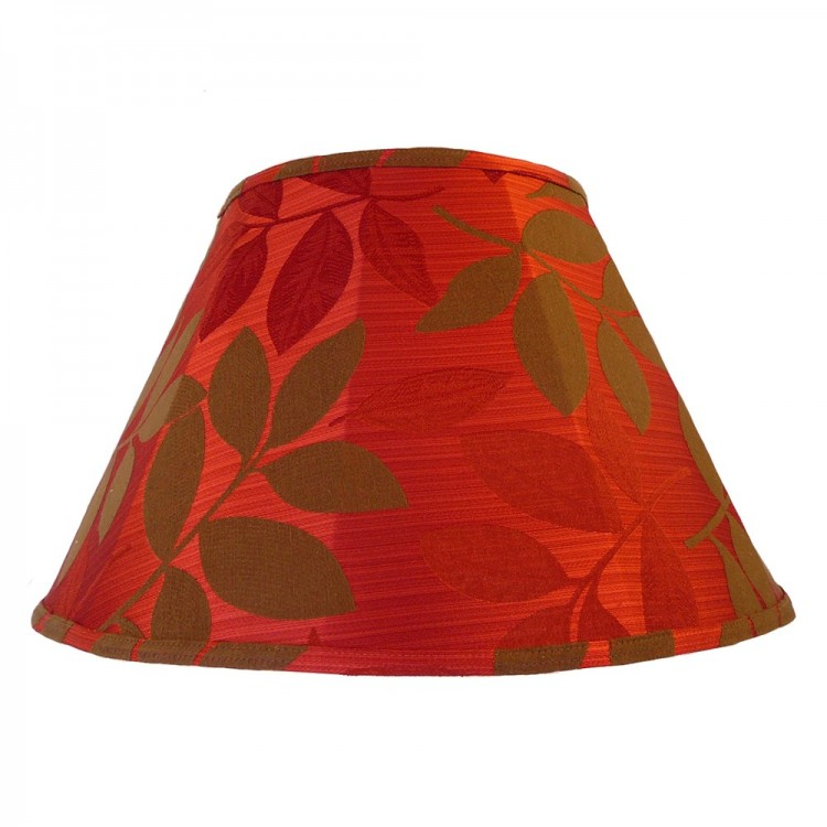 Rouge Red and Brown Leaf Contemporary Fabric Lampshades