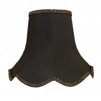 Black and Gold Modern Fabric Lampshades
