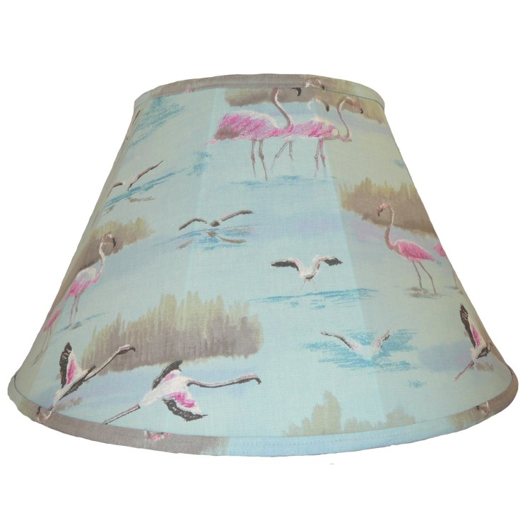 Blue Flamingo Contemporary Fabric Lampshades