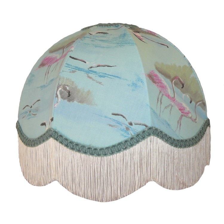 Blue Flamingo Dome Fabric Lampshades