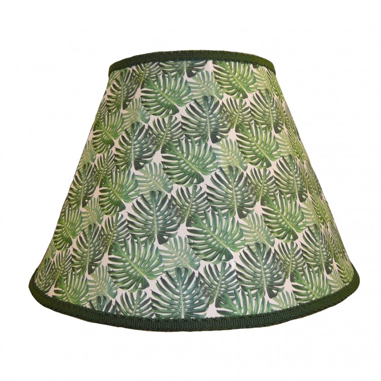 Botanical Palm Leaf Contemporary Fabric Lampshades