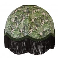 Botanical Palm Leaf Dome Fabric Lampshades