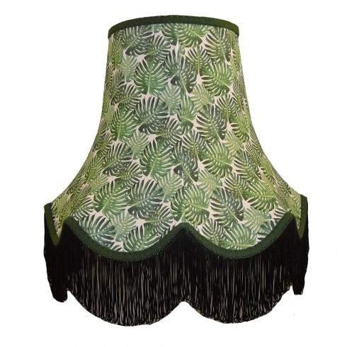 Botanical Palm Leaf Fabric Lampshades