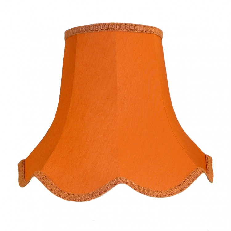 Burnt Orange Modern Fabric Lampshades