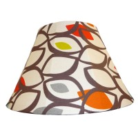 Cedar Cinnamon Contemporary Fabric Lampshades
