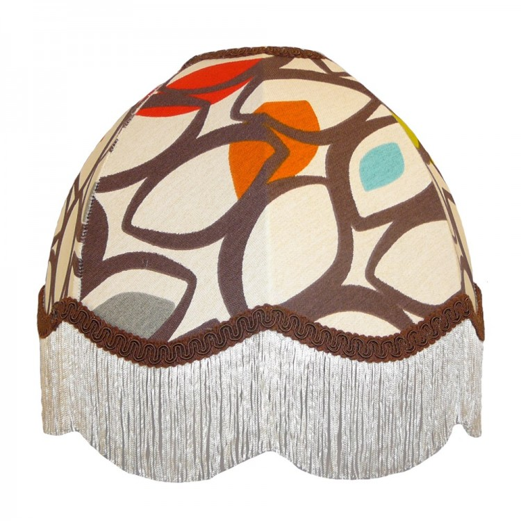 Cedar Cinnamon Dome Fabric Lampshades