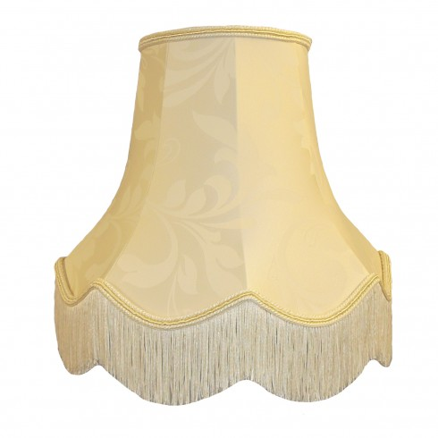 Cream Brocade Fabric Lampshades