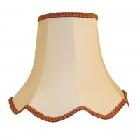 Cream and Red Modern Fabric Lampshades