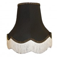 Black / Gold Fabric Lampshades