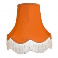 Burnt Orange Fabric Lampshades