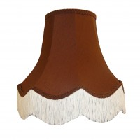 Chocolate Brown Fabric Lampshades
