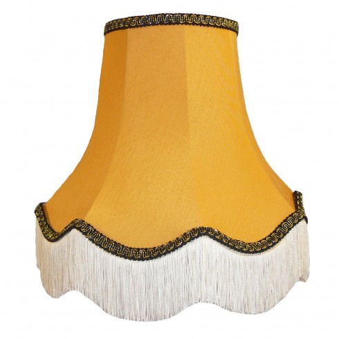 Gold and Black Fabric Lampshades