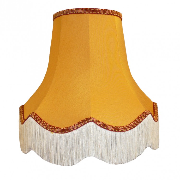 Gold and Rosso Red Fabric Lampshades