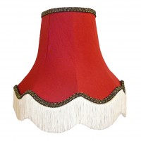 Rosso Red and Black Fabric Lampshades