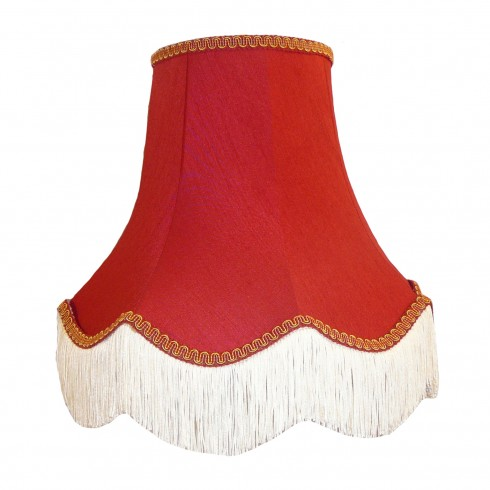 Rosso Red and Gold Fabric Lampshades