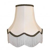 White and Black Fabric Lampshades