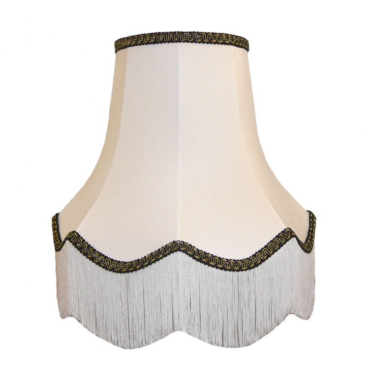 18 Inch White Fabric Lampshade