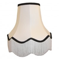 White Black Fabric Lampshades