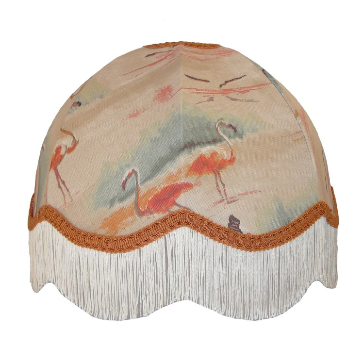 Beige Flamingo Dome Fabric Lampshades