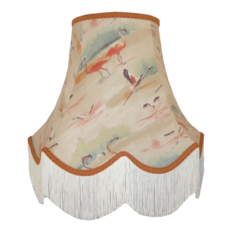 Beige Flamingo Fabric Lampshades