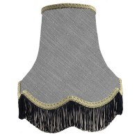 Flint Grey and Black Fabric Lampshades