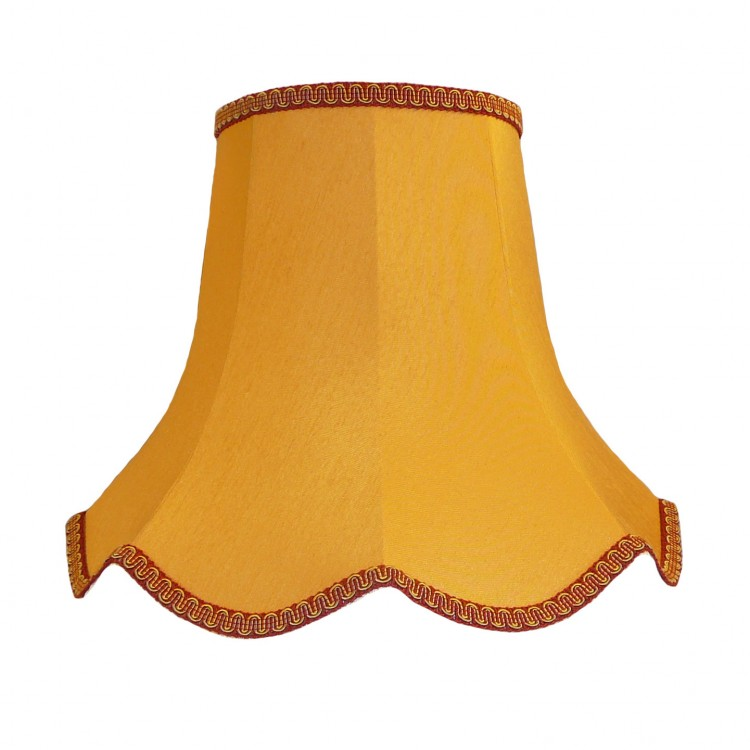 12 Inch Gold and Rosso Red Modern Fabric Lampshades