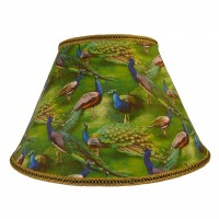 Peacock Plume Green Fabric Lampshades