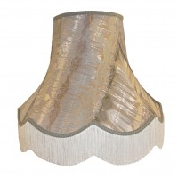 Inca Silver Fabric Lampshades