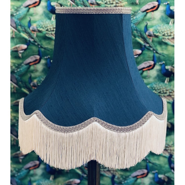 Navy Blue Fabric Lampshades
