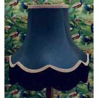 Navy Blue and Black Fabric Lampshades