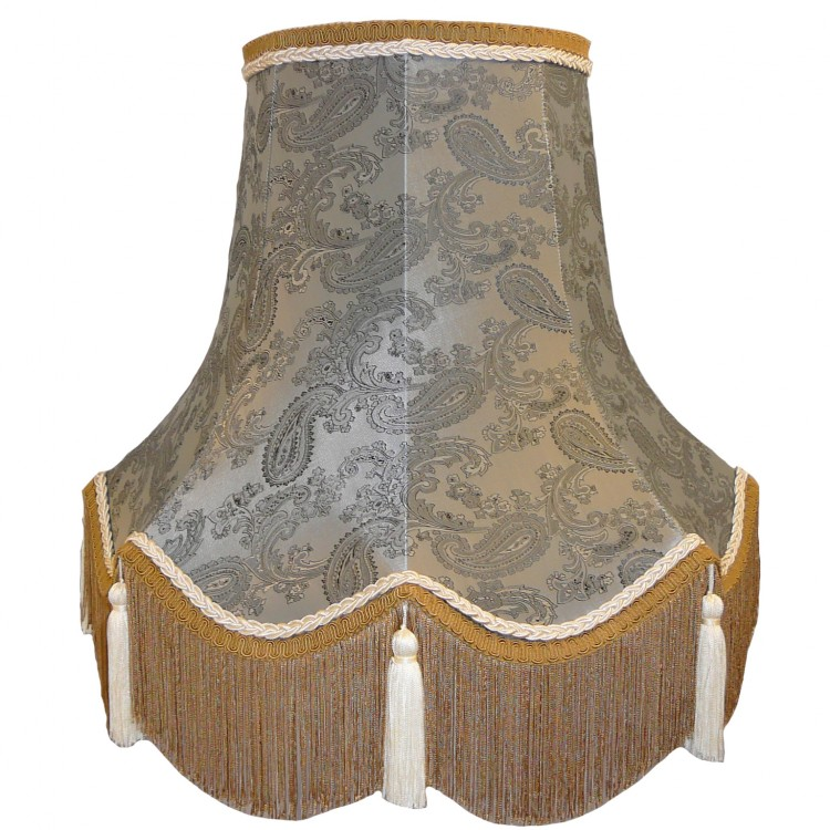 Paisley Grey Fabric Lampshades