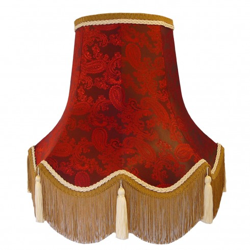 Paisley Ruby Red Fabric Lampshades