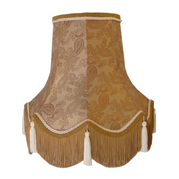Paisley Jacquard Antique Gold Fabric Lampshades