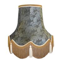 Paisley Jacquard Slate Blue Fabric Lampshades